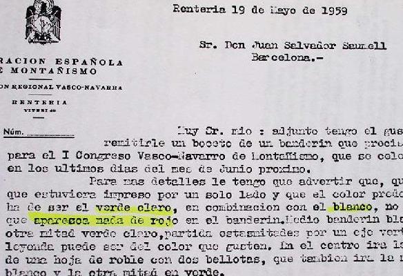 Mendizaleen topaketa Arraten, 1959an
