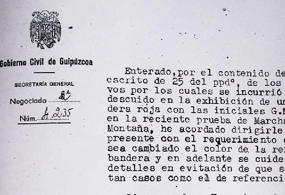Bandera gorria Urdaburun, 1942an