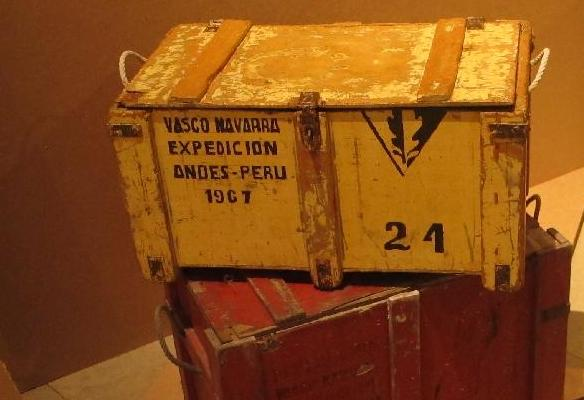 Peruko euskal espedizioan erabilitako kutxak. 1967